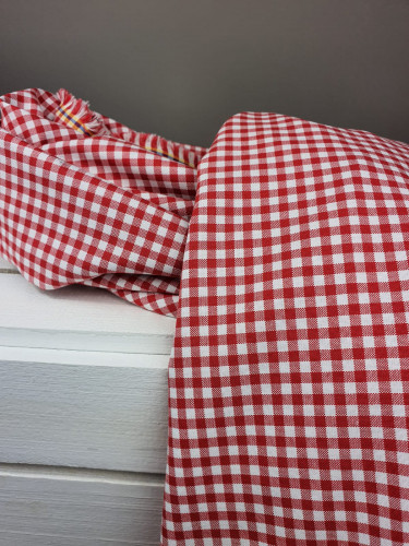 Westfalenstoffe Baumwollstoff Webstoff Karo Rot