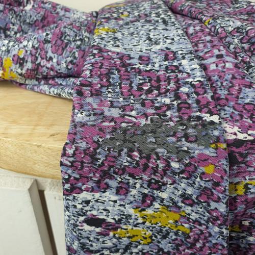 Art Gallery Fabrics Premium Baumwollstoff Grid Lila Bunt