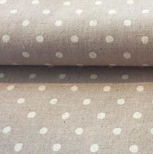 Robert Kaufman: Canvas Sevenberry Natural Dots Grey