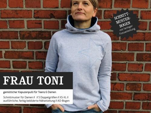 Studio Schnittreif Schnittmuster FRAU TONI Kapuzensweater