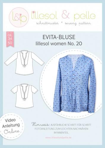 Lillesol & Pelle Schnittmuster women No.20 Evita-Bluse * mit Video-Nähanleitung *