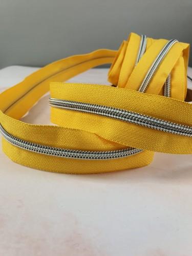 Endlosreißverschluss Metallisiert Gelb