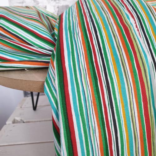 Makower Baumwollstoff Wavy Stripe bunt