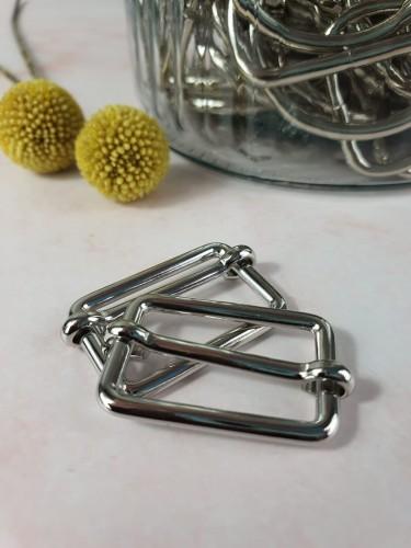 Leiterschnalle Silber 25/30/40 mm