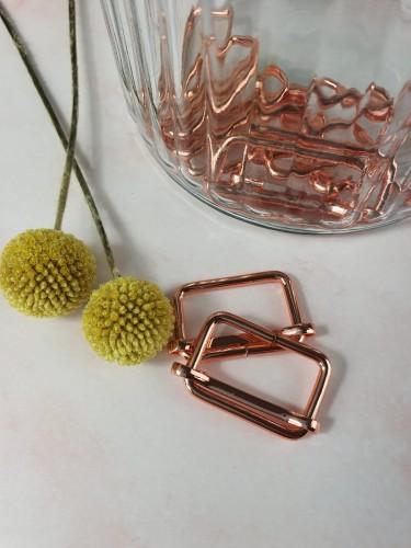 Leiterschnalle Rosegold 25/30/40 mm