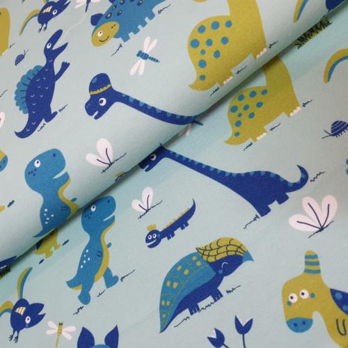 Lillestoff Jersey Dinosaurrr Blue