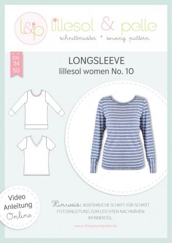 Lillesol & Pelle Schnittmuster women No.10 Longsleeve *mit Video-Nähanleitung*