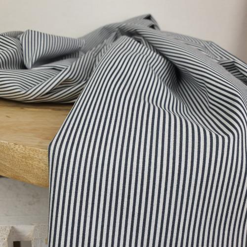 Westfalenstoffe Baumwollstoff Gestreift Grau Weiß