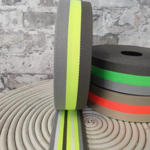 Gurtband Neon Gelb 4 cm