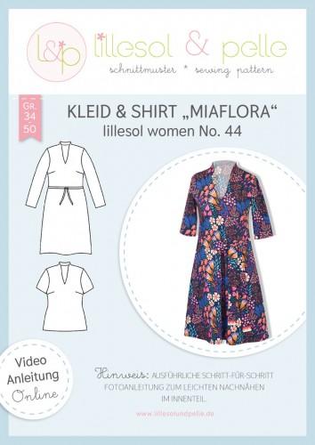 Lillesol & Pelle Schnittmuster women No.44 Kleid & Shirt Miaflora *mit Video-Nähanleitung*