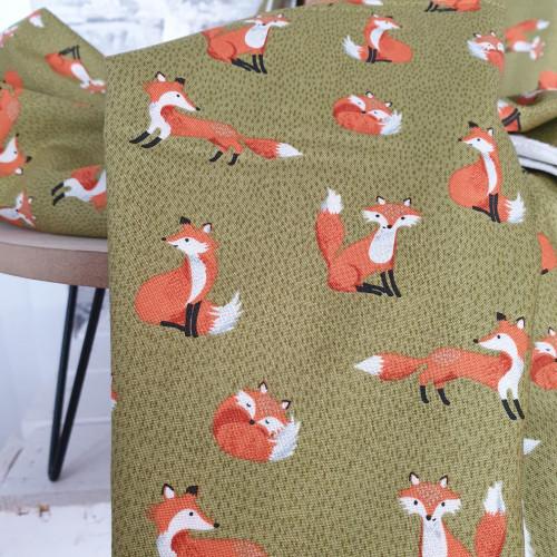 Makower Baumwollstoff Forest Foxes