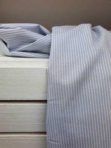 Westfalenstoffe Baumwollstoff Capri Streifen Grau Weiß