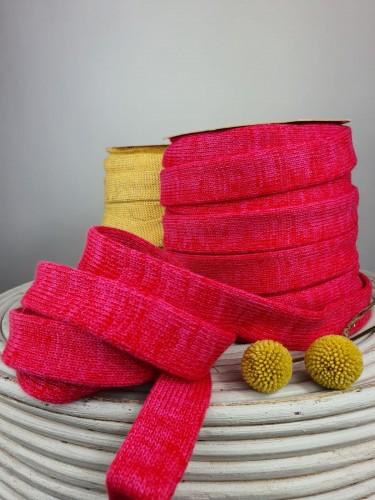 Albstoffe Flachkordel Pink