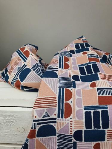 Cotton and Steel Baumwollstoff Feel The Void Shape Study - Sunset Fabric