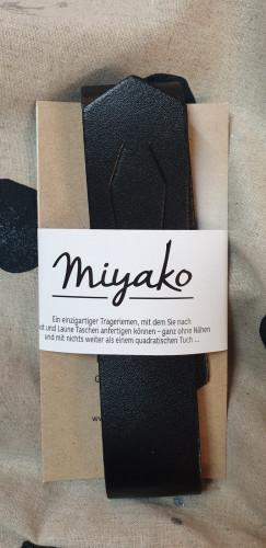 Westfalenstoffe Miyako Leder Trageriemen Schwarz