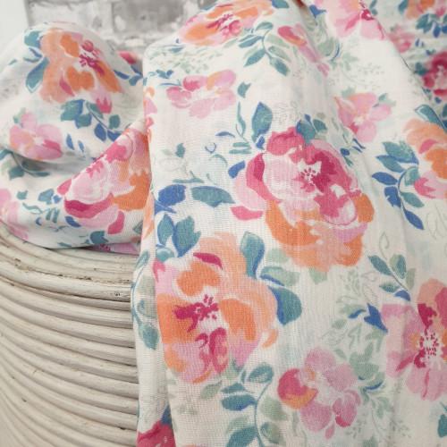 Stenzo Musselin Double Gauze Floral Blumen Groß