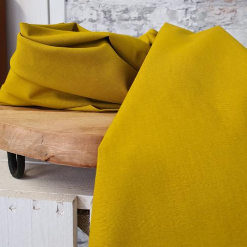 Westfalenstoffe Baumwollstoff Druckstoff Kopenhagen Uni Senfgelb