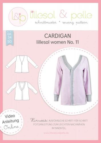 Lillesol & Pelle Schnittmuster women No.11 Cardigan *mit Video-Nähanleitung*