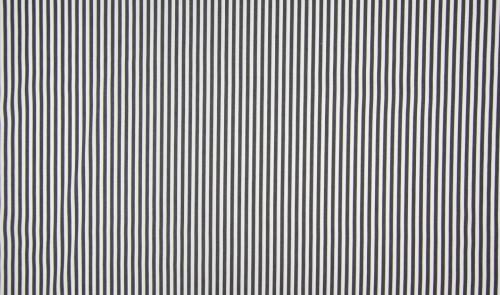 Baumwollstoff Nylon Streifen Schwarz Weiß