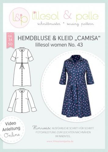Lillesol & Pelle Schnittmuster women No.43 Hemdbluse & Kleid Camisa *mit Video-Nähanleitung*