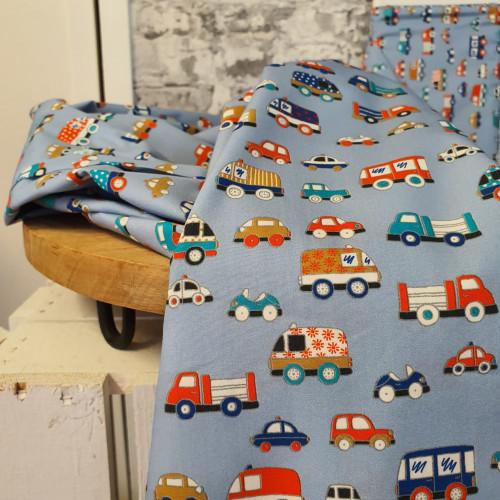 Hilco Baumwollstoff Popeline Baby Cars
