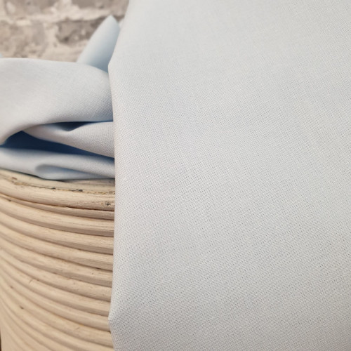 Westfalenstoffe Baumwollstoff Lönneberga Uni Hellblau