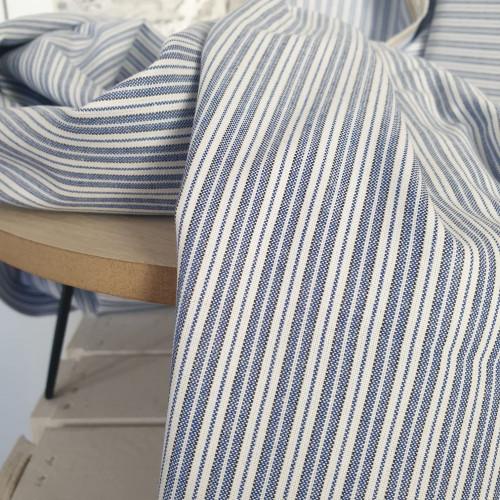 Westfalenstoffe Baumwollstoff Webstoff Weiß Royal Gestreift
