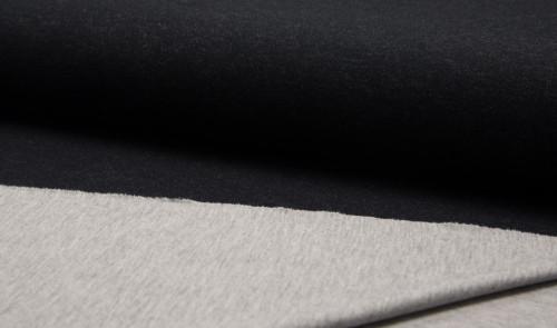 Double Face Jersey Schwarz Grau Meliert