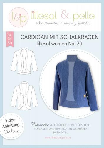 Lillesol & Pelle Schnittmuster women No.29 Cardigan mit Schalkragen *mit Video-Nähanleitung*