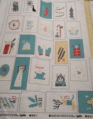 Katia Baumwollstoff Panel / Paneel Adventskalender