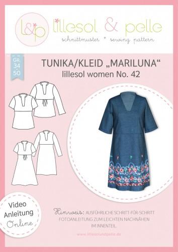 Lillesol & Pelle Schnittmuster women No.42 Tunika/Kleid Mariluna *mit Video-Nähanleitung*
