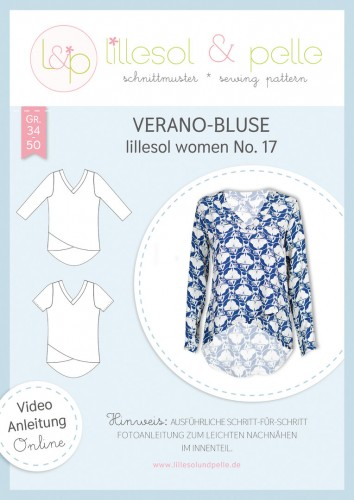 Lillesol & Pelle Schnittmuster women No.17 Verano-Bluse *mit Video-Nähanleitung*