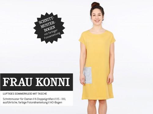 Studio Schnittreif Schnittmuster FRAU KONNI luftiges Sommerkleid mit Tasche