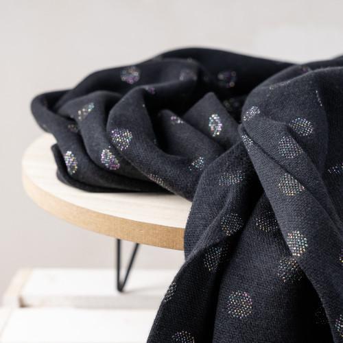 Bündchen Baumwolle Kreisel Schwarz