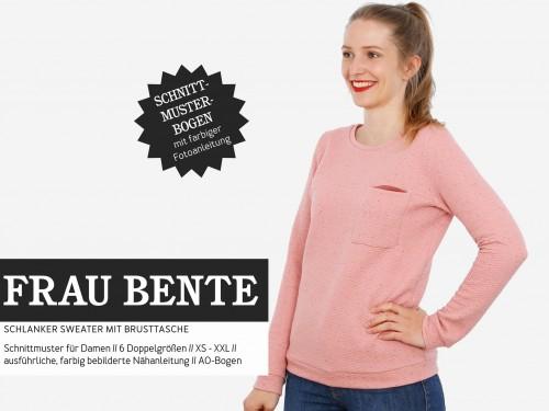 Studio Schnittreif Schnittmuster FRAU BENTE Sweater mit Brusttasche