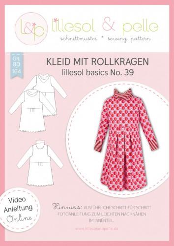 Lillesol & Pelle Schnittmuster basics No.39 Kleid mit Rollkragen * mit Video-Nähanleitung *