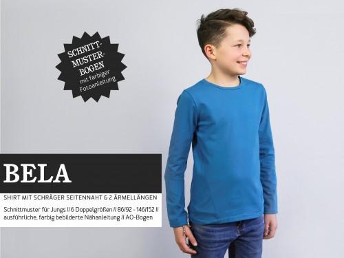 Studio Schnittreif Schnittmuster BELA Shirt mit schräger Seitennaht