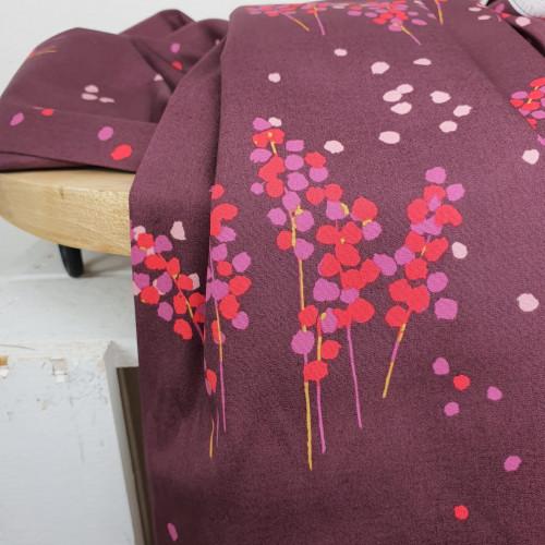 Art Gallery Fabrics Premium Baumwollstoff Bordeaux