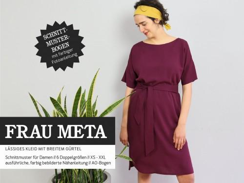 Studio Schnittreif Schnittmuster FRAU META lässiges Kleid mit breitem Gürtel